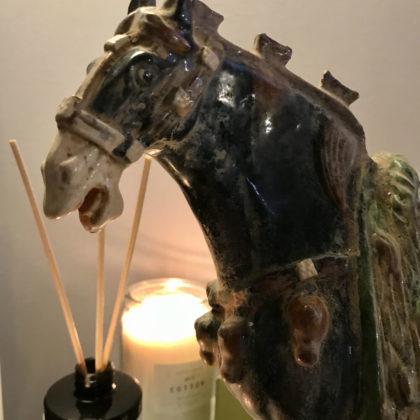 "Статуэтка ""Античная черная лошадь"""