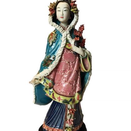 """Фарфоровая статуэтка """"Дама в зимней мантии"""""""