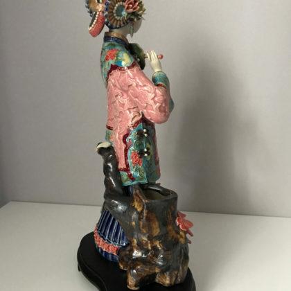 """Фарфоровая статуэтка """"Дама с веером"""""""