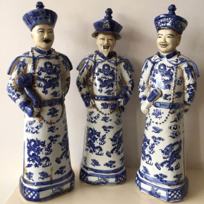 "Статуэтки ""Императоры Китая Цяньлун, Шунь-Чжи,  Канси"""