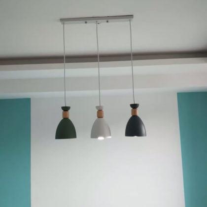 Светильник с тремя подвесами LEWES