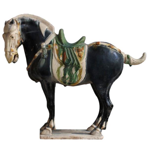 """Статуэтка """"Керамическая черная лошадь"""""""