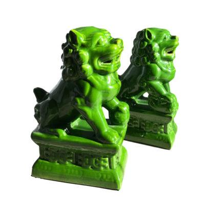 """Статуэтки """"Китайские львы зеленые"""""""