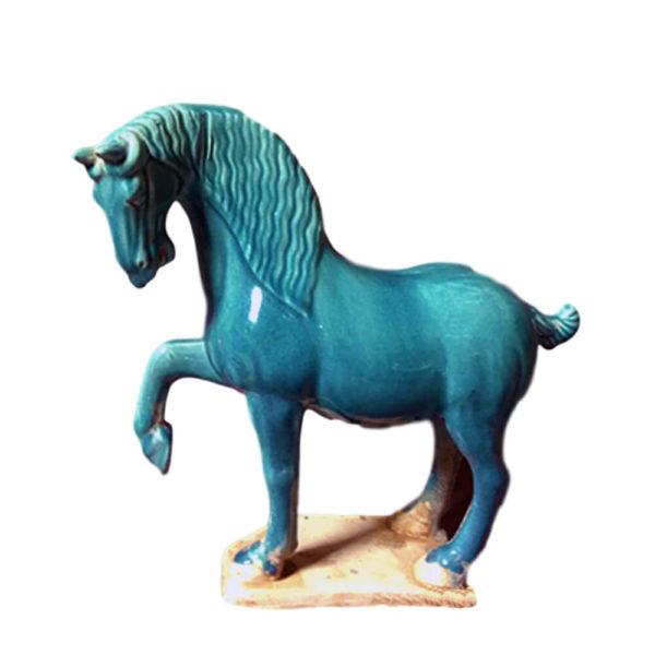 """Статуэтка """"Керамическая голубая лошадь"""""""