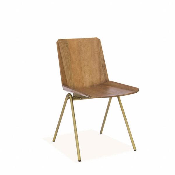 стул в цвете грецкий орех латунь