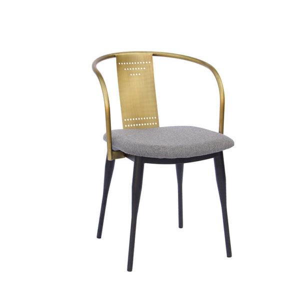 стул интерьерный латунь